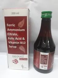 Ferric Ammonium Citrate, Folic Acid And Vitamin B12 Syrup