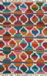 Cotton Multi Color Area Chindi Rug