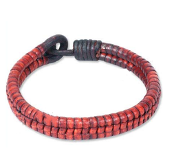 Fashion Casual Wear Leather Braided Bracelet with Flat Leather