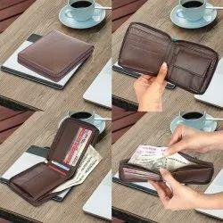 Leather Zipper Wallet