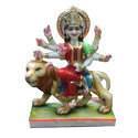 Colorful Marble Durga Statue