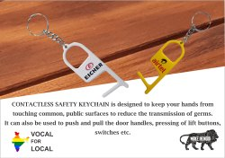 Contactless Safety Covid Key Chain