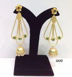 Beads Fancy Beaded Pearls Jhumka Earrings, Packaging Type: Box
