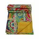 Jaipuri Textiles Printed Kantha Bedspread