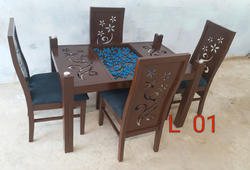 Woodline Creation Wooden Dinning Table for Home / Hotel