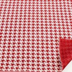 Printed and Plain Jacquard Knitted Fabric