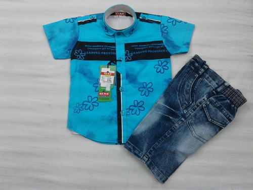 Boys Denim Baba Suit