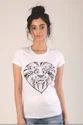 Lion Face Print Women T-shirt
