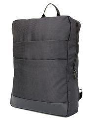 Double Front Pocket Black Backpack