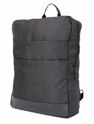 Double Front Pocket Black Backpack