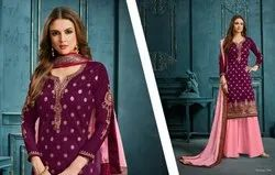 Celestial Jacquard Embroidered Party Wear Salwar Kameez