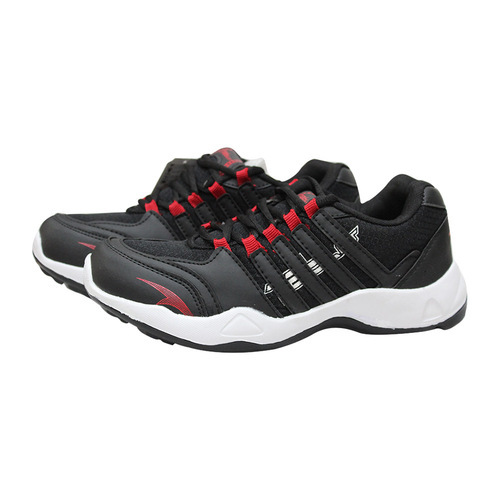 Black And Red Men Columbus Sports Shoes