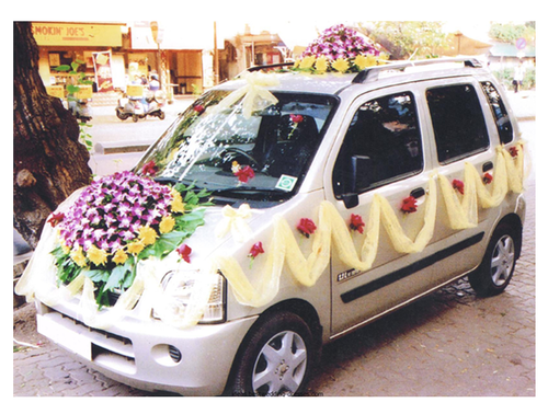 Wedding Car Decoration In Thane Kalwa By Swapnil Flower Mart Id