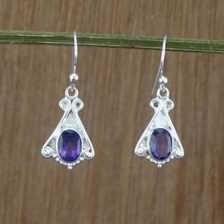 Amethyst Gemstone 925 Sterling Silver Jewelry Earring