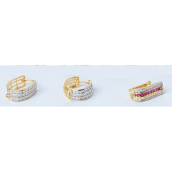 Zirconia Gold CZ Channel Bali