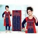 Casual Wear 3/4th Sleeve Ladies Trendy Printed Rayon Kurti, Size: L-xxl, Handwash