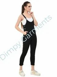 0764ca1f1 Cotton Lycra Black Casual Dungaree Dress For Women, Rs 240 /piece ...