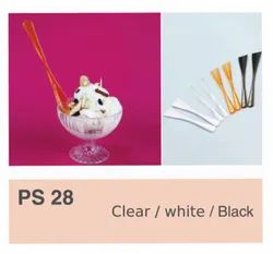 Plastic Ice Cream Spoon, For Event And Party Supplies
