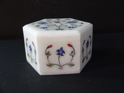 White Marble Makrana Handicrafts Box