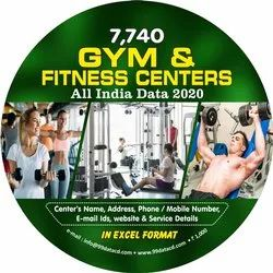 Gym and Fitness Centers All India Database and Directory
