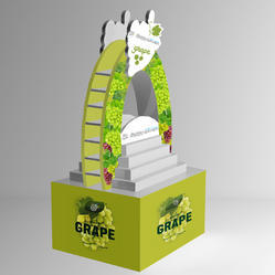 Acrylic, Corrogated Cardboard Polished Corrugated Display Stands for Promotional