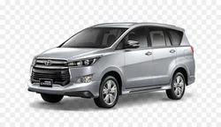 White Toyota Innova Crysta