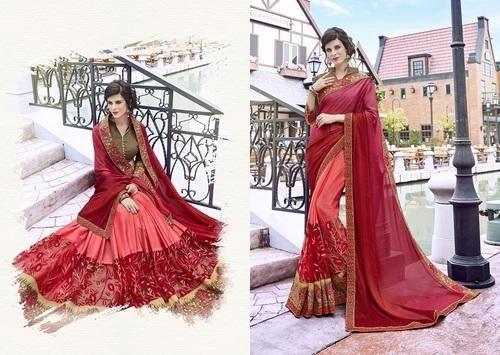 5648a5750a5 Wedding Wear Heavy Saree