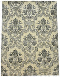 Classic Wool Silk Area Rugs In Light Ivory Color