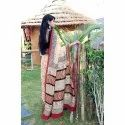 Ladies Party Wear  Chanderi Saree, 6.3 M (with Blouse Piece), Packaging Type: Poly Bag