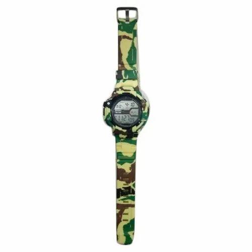 8ba73c5535d7 Rubber Army Seven Light Kids Digital Watch