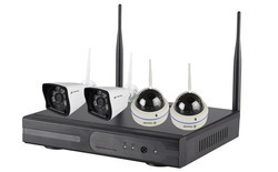 4ch NVR Wireless Kit with 4 IP Camera (S-4WK)