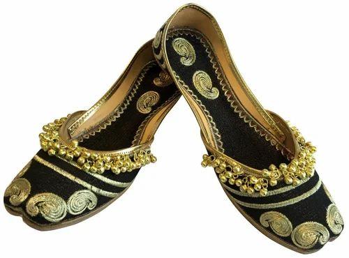 Handmade Sandal Rajasthani Indian Women/'s Black Shoes Latest Designs Jutti