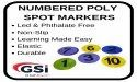 Numbered Spot Markers 0-9