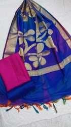Party Wear Banarasi Silk Suit