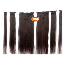 6 Pcs Multi Straight Silky Black Hair Extension