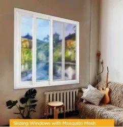 upvc White Sliding Window Mosquito Net, Size: 4 X 3