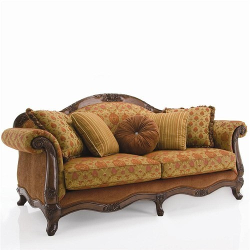 Beau Traditional Wooden Couch Sofa