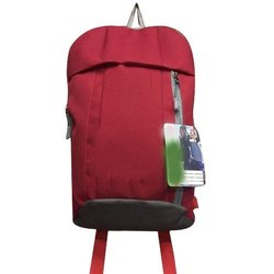 Red Polyester Hiking Backpack
