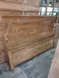 Wooden Carved Bed Headboard