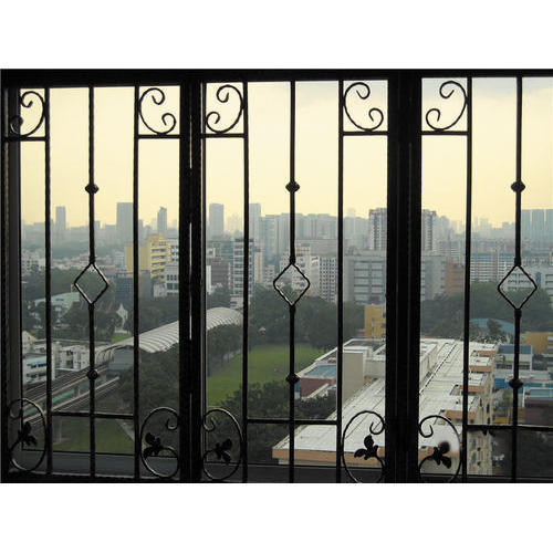 Wrought Iron Window Grill, रौट आयरन ग्रिल