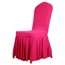 Cotton Pink Wedding Chair Covers
