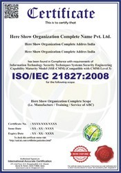 ISO/IEC 21827:2008 Certification and Consultancy Service