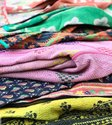 Blocked Vintage Kantha Quilt
