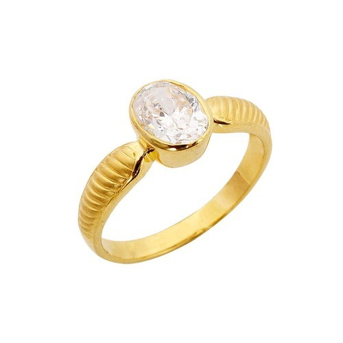 Single Stone Gold Ring Gold & Gold Jewellery