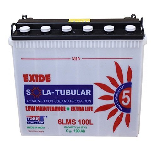 Exide 150 Ah Sola Tubular Battery Warranty 36 Months Rs