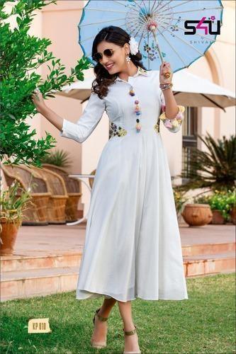 3c6043cfe0 Girl Stitched Kitty Party Kurti, Size: XXL, Rs 1299 /set | ID ...
