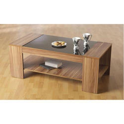 Brown Rectangle Wooden Center Table, Height: 2 - 3 Feet