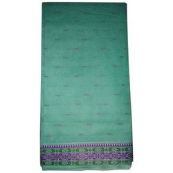 Ladies Green Butta Saree, With Out Blouse Piece