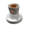 Vasu Vega White Button Bulb Holder
