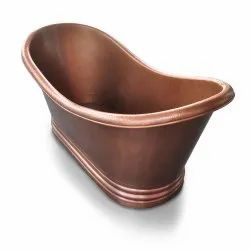 Hammered Dark Copper Double Slipper Tub NJO-7501